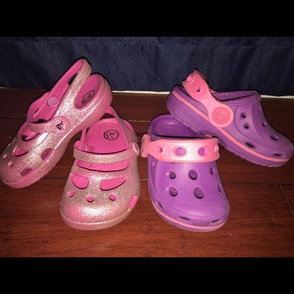 69d2632b0a4 CROCS Other - Size 5 Crocs- 2 Pairs! sparkles!